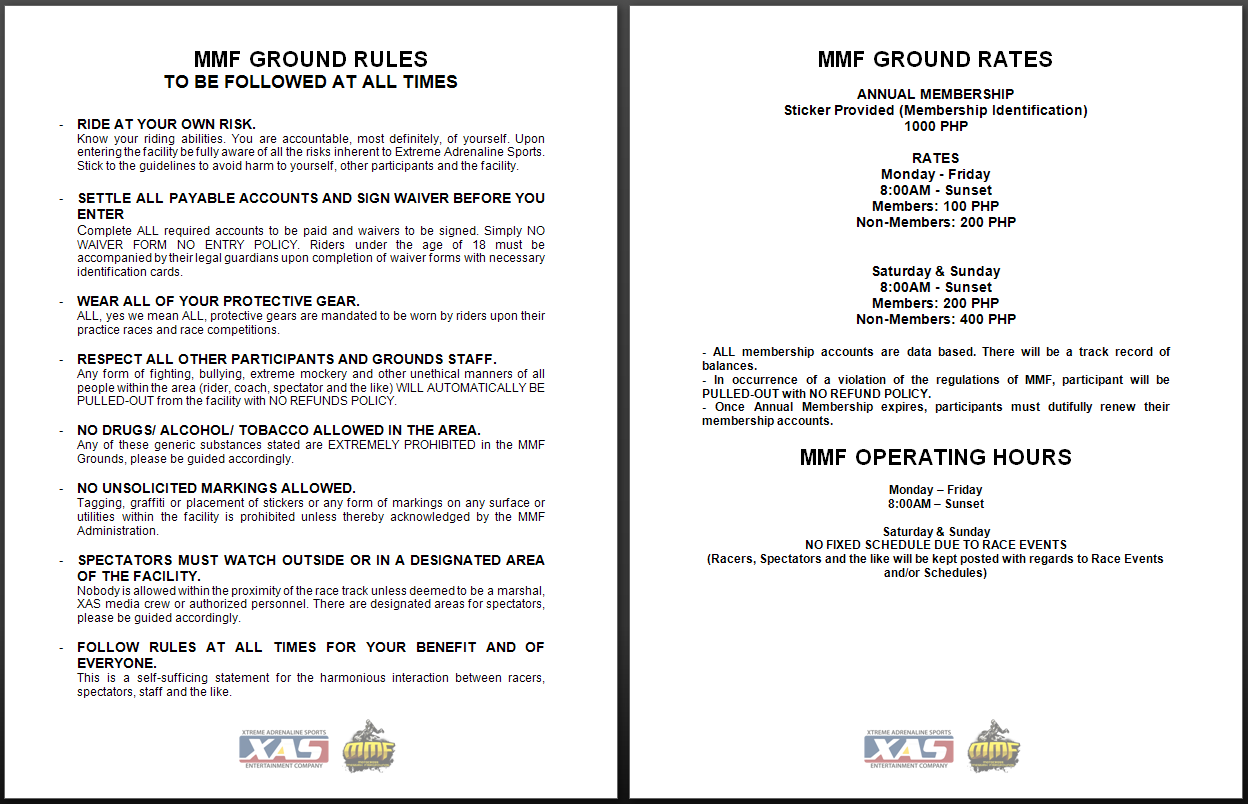 MMF Ground Rules